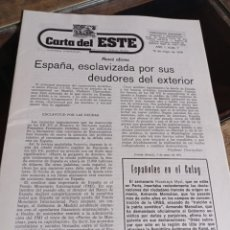 Coleccionismo de Revistas y Periódicos: PERIODICO CARTA DEL ESTE, DIRECTOR GABRIEL AMIAMA AÑO 1 NUM. 7 REF. UR EST. Lote 240232095