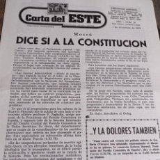 Coleccionismo de Revistas y Periódicos: PERIODICO CARTA DEL ESTE, DIRECTOR GABRIEL AMIAMA AÑO 1 NUM. 18 REF. UR EST. Lote 240236415
