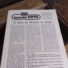 Coleccionismo de Revistas y Periódicos: PERIODICO CARTA DEL ESTE, DIRECTOR GABRIEL AMIAMA AÑO 2 NUM. 26-27 REF. UR EST. Lote 240241550