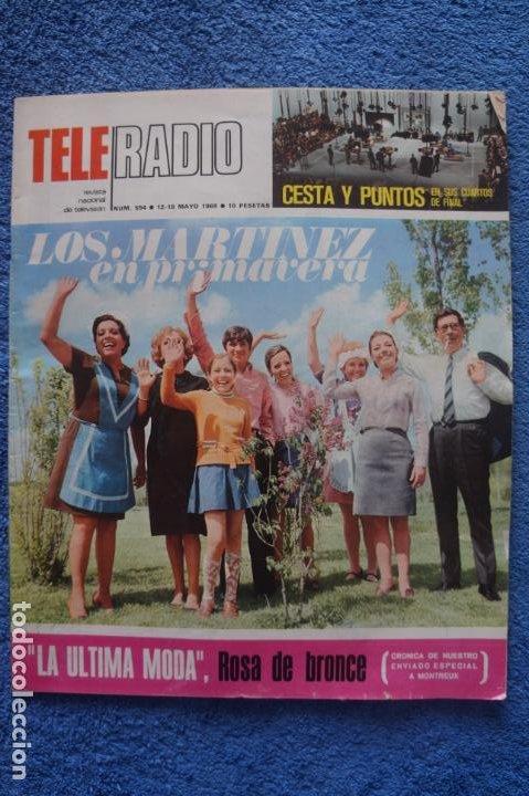REVISTA TELERADIO DON CARLOS ARIAS CASA MARTINEZ BUCHANAN EL SOLITARIO RELOJES OMEGA Nº 594 L14 (Coleccionismo - Revistas y Periódicos Modernos (a partir de 1.940) - Otros)