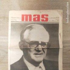 Coleccionismo de Revistas y Periódicos: PERIÓDICO MAS EDITADO POR HERMANDADES DEL TRABAJO CON PORTADA DEL FALLECIMIENTO DE SU FUNDADOR. Lote 241087070