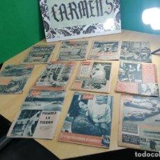 Coleccionismo de Revistas y Periódicos: 11 REVISTAS ANTIGUAS DE 1954 GARBO, TODAS DIFERENTES, SALEN ANUNCIOS Y NOTICIAS DEL MUNDO. Lote 241147210