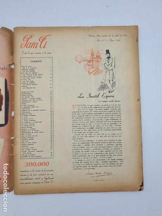 Coleccionismo de Revistas y Periódicos: REVISTA PARA TI ( 1947 ) BUENOS AIRES, Nº 1302 ( VER FOTOS ) - Foto 6 - 241701165