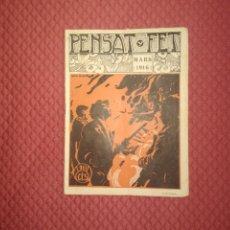 Coleccionismo de Revistas y Periódicos: REVISTA FALLERA PENSAT FET 1916 FALLAS DE VALENCIA. Lote 241922695