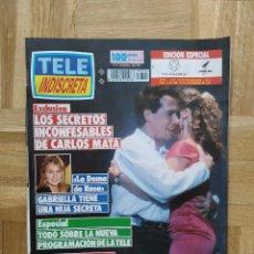 Coleccionismo de Revistas y Periódicos: REVISTA TELEINDISCRETA. TELE INDISCRETA. Nº 344. CARLOS MATA. TOPACIO. SANTA BARBARA. DAMA DE ROSA. Lote 242252705