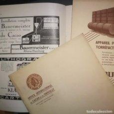 Coleccionismo de Revistas y Periódicos: LOTE 3 NÚMEROS BOLETÍN INTERNACIONAL CACAO Y CHOCOLATE - REVISTA TÉCNICA 12-1935 1-1936 Y 7/8 1939. Lote 242360825