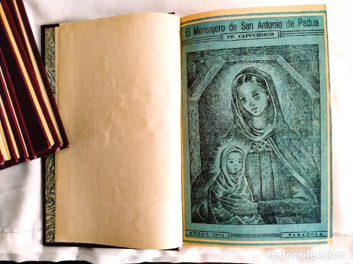 EL MENSAJERO DE SAN ANTONIO DE PADUA - OCHO TOMOS (Coleccionismo - Revistas y Periódicos Modernos (a partir de 1.940) - Otros)