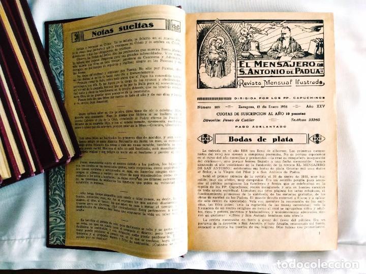 Coleccionismo de Revistas y Periódicos: EL MENSAJERO DE SAN ANTONIO DE PADUA - OCHO TOMOS - Foto 2 - 242856885