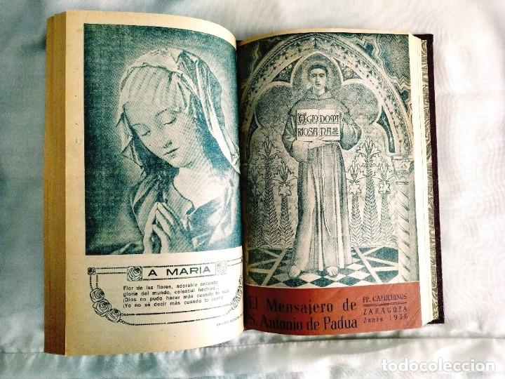 Coleccionismo de Revistas y Periódicos: EL MENSAJERO DE SAN ANTONIO DE PADUA - OCHO TOMOS - Foto 4 - 242856885