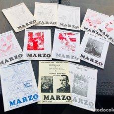 Coleccionismo de Revistas y Periódicos: REVISTA ,FANZINE,COLECCIÓN COMPLETA,MARZO,FEI,FES,FALANGE,FRANCO,POESÍA QUE PROMETE,JOSE ANTONIO PRI. Lote 243147660