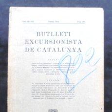 Coleccionismo de Revistas y Periódicos: BUTLLETÍ EXCURSIONISTA CATALUNYA 1928 393 PER TERRES DE DON QUIJOTE APELES MESTRES ARGAMASILLA. Lote 243229315