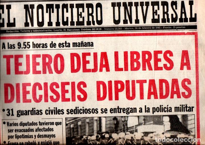 Coleccionismo de Revistas y Periódicos: GOLPE DE ESTADO TEJERO 23.F : SEIS DIARIOS COMPLETOS - Foto 2 - 243414370