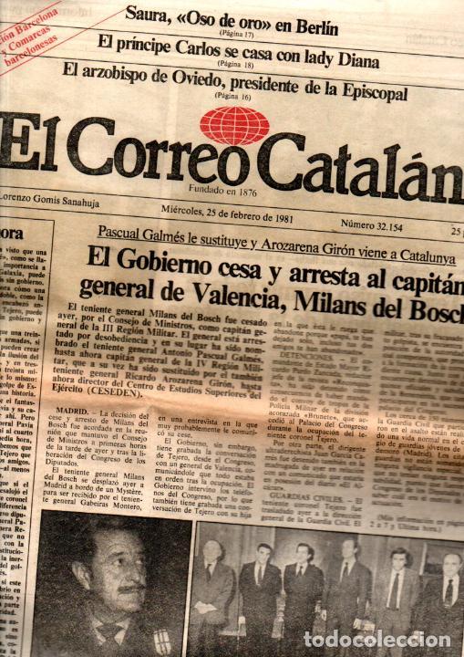 Coleccionismo de Revistas y Periódicos: GOLPE DE ESTADO TEJERO 23.F : SEIS DIARIOS COMPLETOS - Foto 3 - 243414370