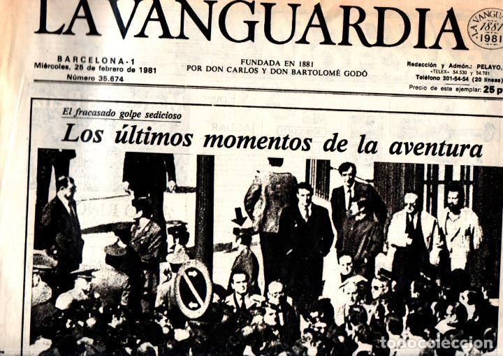 Coleccionismo de Revistas y Periódicos: GOLPE DE ESTADO TEJERO 23.F : SEIS DIARIOS COMPLETOS - Foto 4 - 243414370