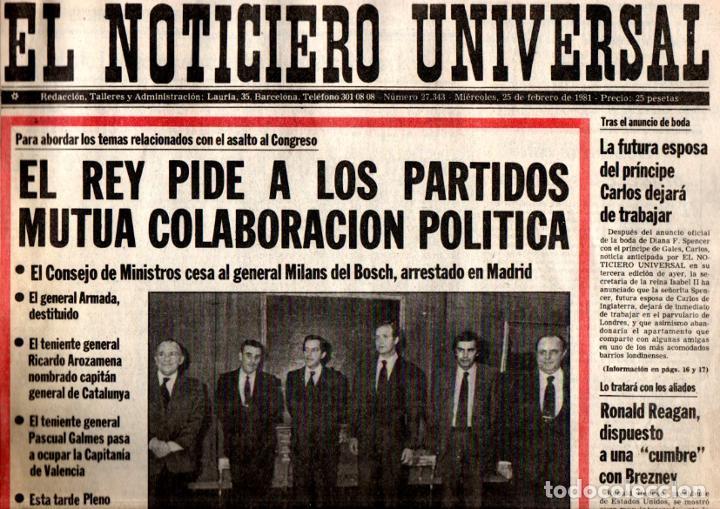 Coleccionismo de Revistas y Periódicos: GOLPE DE ESTADO TEJERO 23.F : SEIS DIARIOS COMPLETOS - Foto 5 - 243414370