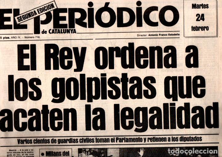 Coleccionismo de Revistas y Periódicos: GOLPE DE ESTADO TEJERO 23.F : SEIS DIARIOS COMPLETOS - Foto 6 - 243414370