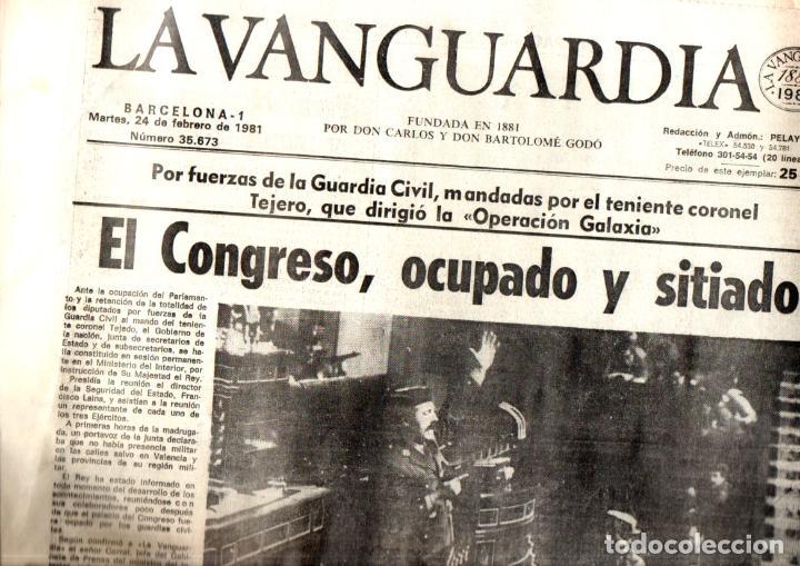 GOLPE DE ESTADO TEJERO 23.F : SEIS DIARIOS COMPLETOS (Coleccionismo - Revistas y Periódicos Modernos (a partir de 1.940) - Otros)