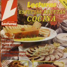 Colecionismo de Revistas e Jornais: REVISTA LECTURA. ESPECIAL RECETAS COCINA Nº 1. LAS MEJORES RECETAS, ENTRANTES, PLATOS PRINCIPALES,. Lote 243420865