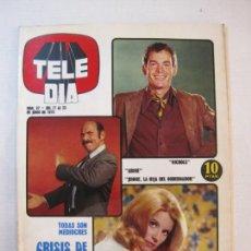 Coleccionismo de Revistas y Periódicos: TELE DIA-Nº 37-AÑO 1973-OVNI-JAMES STEWART-JOHN FORD-TONY RONALD-JUAN PARDO-SERIES-VER FOTOS. Lote 243431780