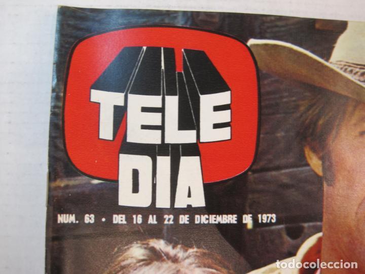 Coleccionismo de Revistas y Periódicos: TELE DIA-Nº 63-AÑO 1973-KUNG FU-AUDREY HEPBURN-JERRY LEWIS-ANTHONY QUINN-LOS DIABLOS-VER FOTOS - Foto 2 - 243444225