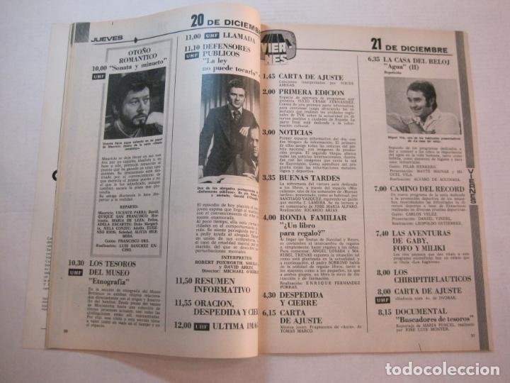 Coleccionismo de Revistas y Periódicos: TELE DIA-Nº 63-AÑO 1973-KUNG FU-AUDREY HEPBURN-JERRY LEWIS-ANTHONY QUINN-LOS DIABLOS-VER FOTOS - Foto 5 - 243444225