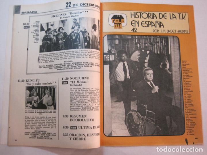 Coleccionismo de Revistas y Periódicos: TELE DIA-Nº 63-AÑO 1973-KUNG FU-AUDREY HEPBURN-JERRY LEWIS-ANTHONY QUINN-LOS DIABLOS-VER FOTOS - Foto 6 - 243444225