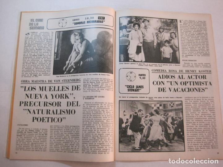 Coleccionismo de Revistas y Periódicos: TELE DIA-Nº 63-AÑO 1973-KUNG FU-AUDREY HEPBURN-JERRY LEWIS-ANTHONY QUINN-LOS DIABLOS-VER FOTOS - Foto 9 - 243444225