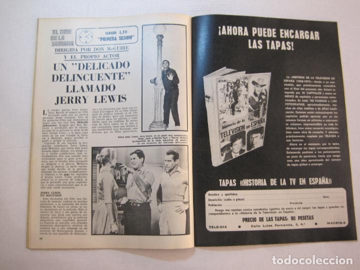Coleccionismo de Revistas y Periódicos: TELE DIA-Nº 63-AÑO 1973-KUNG FU-AUDREY HEPBURN-JERRY LEWIS-ANTHONY QUINN-LOS DIABLOS-VER FOTOS - Foto 11 - 243444225