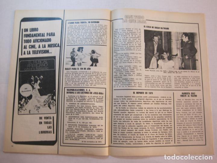 Coleccionismo de Revistas y Periódicos: TELE DIA-Nº 63-AÑO 1973-KUNG FU-AUDREY HEPBURN-JERRY LEWIS-ANTHONY QUINN-LOS DIABLOS-VER FOTOS - Foto 15 - 243444225