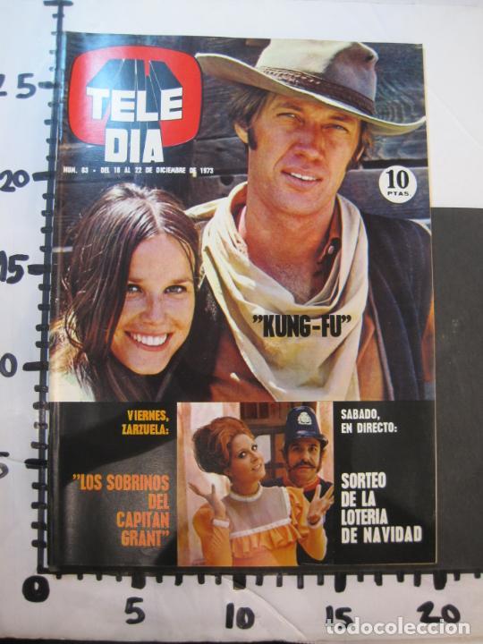 Coleccionismo de Revistas y Periódicos: TELE DIA-Nº 63-AÑO 1973-KUNG FU-AUDREY HEPBURN-JERRY LEWIS-ANTHONY QUINN-LOS DIABLOS-VER FOTOS - Foto 18 - 243444225