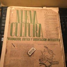 Coleccionismo de Revistas y Periódicos: GUERRA CIVIL REVISTA NUEVA CULTURA VALENCIA JUNIO JULIO 1937 Nº 4-5 PICASSO DESTRUCCION DE GUERNICA. Lote 243444505