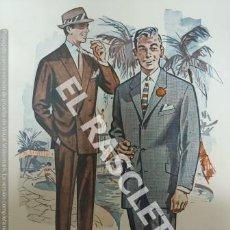 Coleccionismo de Revistas y Periódicos: COLECCION DE FICHAS VESTUARIO MASCULINO - AUBELE - BARCELONA AÑOS 70 -. Lote 243448355