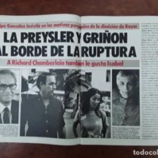 Coleccionismo de Revistas y Periódicos: ISABEL PREYSLER MIGUEL BOYER GRIÑON NAZI DOCTOR MENGELE ASESINATO NIÑO 11 AÑOS COMPETA MALAGA 1985. Lote 243450030
