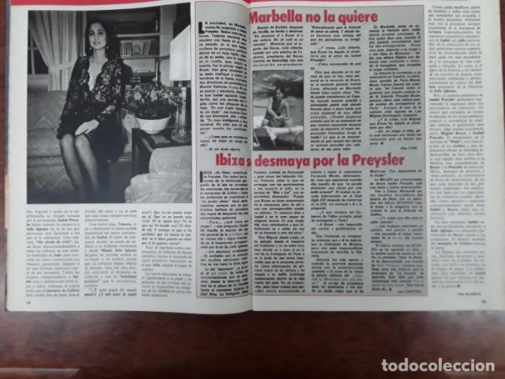 Coleccionismo de Revistas y Periódicos: ISABEL PREYSLER MIGUEL BOYER GRIÑON NAZI DOCTOR MENGELE ASESINATO NIÑO 11 AÑOS COMPETA MALAGA 1985 - Foto 5 - 243450030