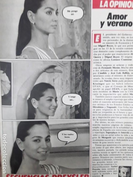 Coleccionismo de Revistas y Periódicos: ISABEL PREYSLER MIGUEL BOYER GRIÑON NAZI DOCTOR MENGELE ASESINATO NIÑO 11 AÑOS COMPETA MALAGA 1985 - Foto 7 - 243450030