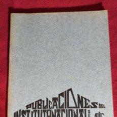 Coleccionismo de Revistas y Periódicos: PUBLICACIONES DEL INTITUTO NACIONAL DE GUECHO 71-72. Lote 243499835