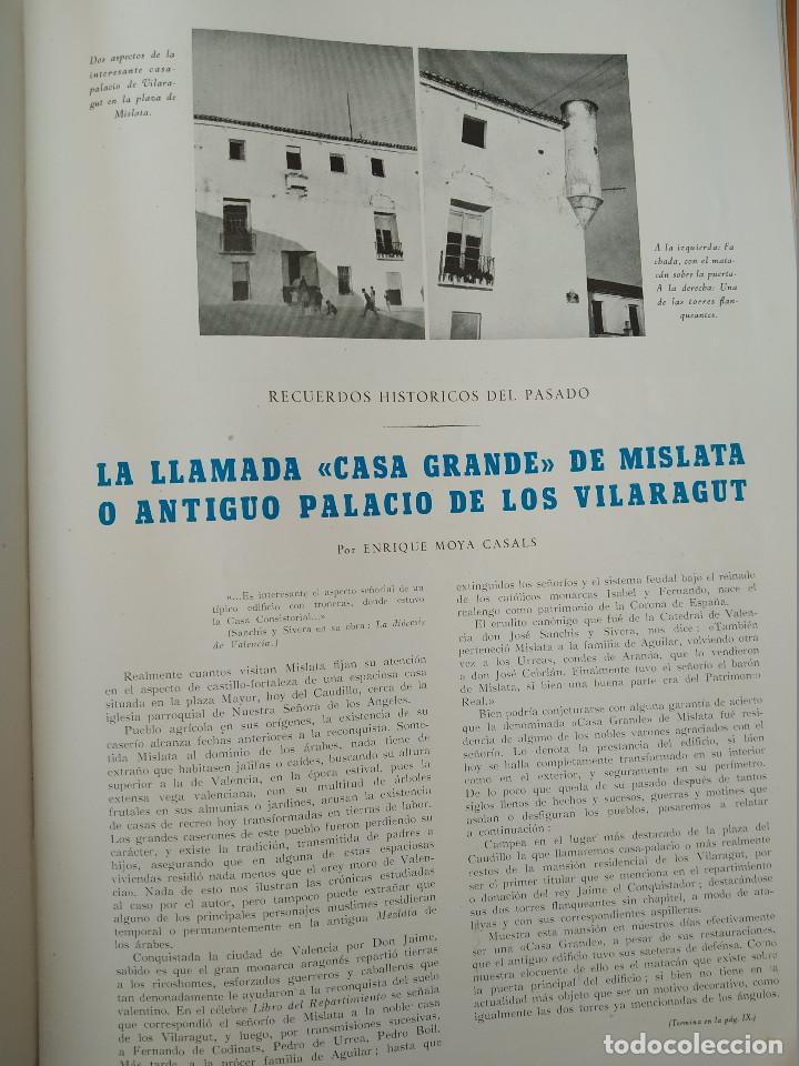 Coleccionismo de Revistas y Periódicos: VALENCIA ATRACCION - ALPUENTE, VERA, MISLATA , LIRIA, MUSICA POPULAR VALENCIANA - AÑO 1949 - Foto 5 - 243592570
