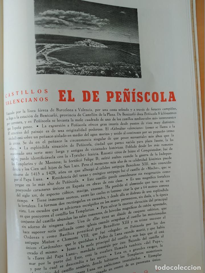 Coleccionismo de Revistas y Periódicos: VALENCIA ATRACCION - PEÑISCOLA, CHOPIN. LA PAELLA POR JOSE PLA, AÑO 1949 - Foto 2 - 243592820