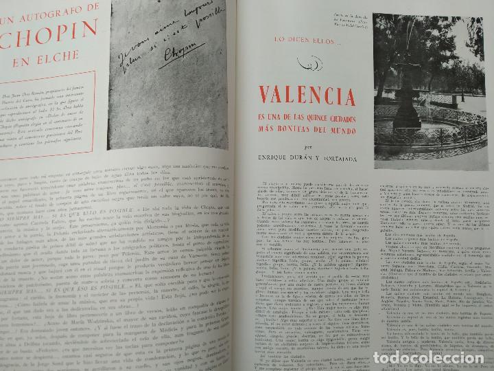 Coleccionismo de Revistas y Periódicos: VALENCIA ATRACCION - PEÑISCOLA, CHOPIN. LA PAELLA POR JOSE PLA, AÑO 1949 - Foto 3 - 243592820