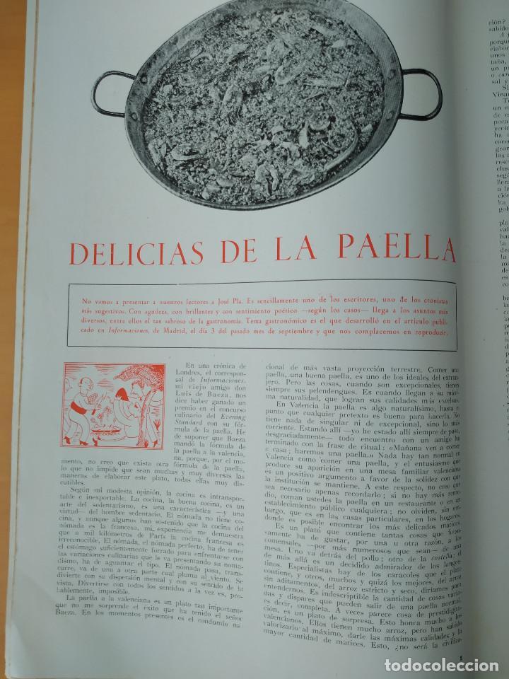 Coleccionismo de Revistas y Periódicos: VALENCIA ATRACCION - PEÑISCOLA, CHOPIN. LA PAELLA POR JOSE PLA, AÑO 1949 - Foto 4 - 243592820