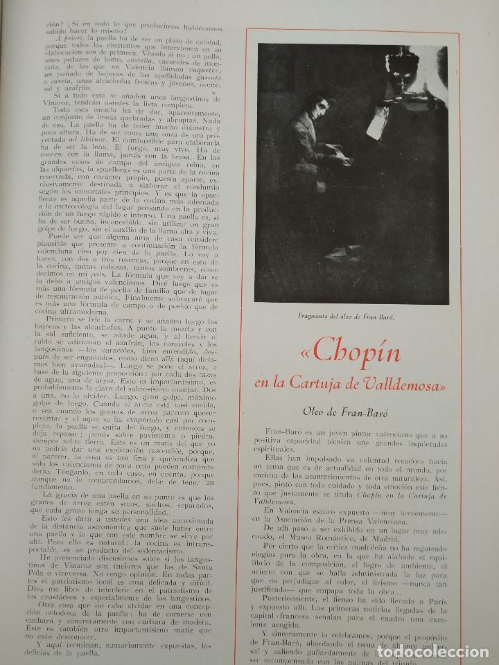Coleccionismo de Revistas y Periódicos: VALENCIA ATRACCION - PEÑISCOLA, CHOPIN. LA PAELLA POR JOSE PLA, AÑO 1949 - Foto 5 - 243592820