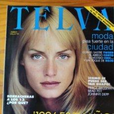 Coleccionismo de Revistas y Periódicos: TELVA Nº 681 1996- AMBER VALLETTA, ZARA- BRAD PITT- JOHNNY DEEP- ANTONIO MUÑOZ MOLINA- RAUL GONZALEZ. Lote 243593330