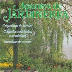 Coleccionismo de Revistas y Periódicos: REVISTA APUNTES DE JARDINERIA Nº 4 VERANO 1986. Lote 243628985