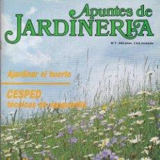 Coleccionismo de Revistas y Periódicos: REVISTA APUNTES DE JARDINERIA Nº 7 PRIMAVERA 1987. Lote 243630210
