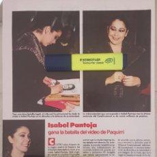 Coleccionismo de Revistas y Periódicos: REPORTAJE ISABEL PANTOJA. REVISTA LECTURAS 28/12/88.. Lote 243818165