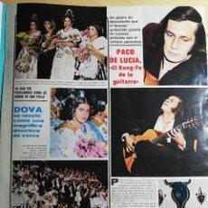 Coleccionismo de Revistas y Periódicos: FALLERAS - PACO DE LUCIA. Lote 243871400