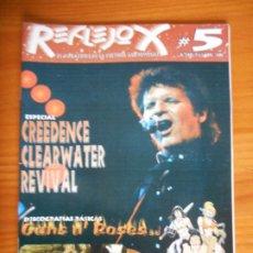 Coleccionismo de Revistas y Periódicos: REFLEJOX Nº 5 - EL MAGAZINE DE LA CULTURA AUDIOVISUAL - CREEDENCE CLEARWATER REVIVAL (7W). Lote 243892260