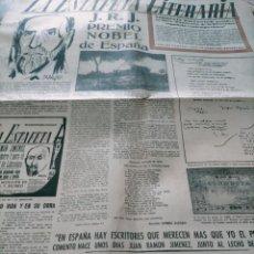 Coleccionismo de Revistas y Periódicos: LA ESTAFETA LITERARIA JUAN RAMON JIMENEZ PREMIO NOBEL DE ESPAÑA N 67 MADRID 27 DE OCTUBRE DE 1956. Lote 244190990