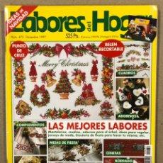 Collectionnisme de Revues et Journaux: LABORES DEL HOGAR N° 472 (1997). PUNTO DE CRUZ, BELEN RECORTABLE, GANCHILLO, CENEFAS,.... Lote 244400440