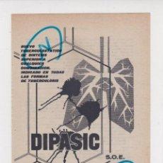Collectionnisme de Revues et Journaux: PUBLICIDAD 1961. ANUNCIO MEDICAMENTO DIPASIC. CONCESIONARIOS LABORATORIOS INIBSA (BARCELONA). Lote 244404780